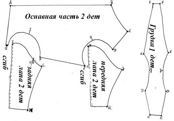 Схема комбинезона